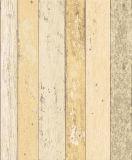 Papel de empapelar lavable del vinilo del diseño de madera casero de la decoración