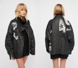 단추 카운트다운 Moto 식각된 군 고무된 재킷
