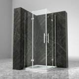 recinto de cristal transparente curvado 8m m de temple 900 de la ducha de 6m m