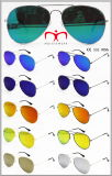 Новые солнечные очки металла способа с плоским объективом (MI160223)