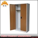 2 باب [غدرج] ملابس [ستورج كبينت] جدار خزانة معدن خزانة ثوب