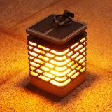 Solarlaterne-Kerze-Halter-Lampen-Solarkerze-Lampe mit Flamme-Solargarten-Ausgangslampe 75LED