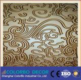 El panel decorativo de la pared de la onda de materiales de la decoración interior