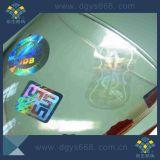 Utilisation faite sur commande d'usine de collant d'hologramme de qualité pour la bouteille