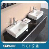 Module de salle de bains neuf de forces de défense principale de peinture de lustre avec le bassin (SW-1500B)