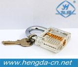 Yh Corte9288 Vista interior do Mini transparente prática de formação do bloqueio de cadeado de coleta de habilidades para chaveiro