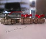 Geschmiedetes Messingkugelventil mit dem Verbindungsstück verwendet im Wasser (YD-1003)