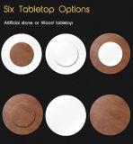 Mesa de comedor redonda modernos de madera con piedra mejor restaurante de muebles para el hogar