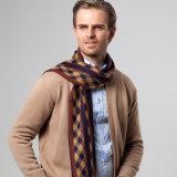 ウールの格子縞のオスのスカーフの人の人のための贅沢なブランドの冬のウールの秋の冬のスカーフ