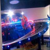 Patio exterior de los anillos de doble suspensión pequeño lujo Tren Roller Coaster en venta