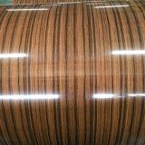 El grano de madera de la serie 1000-8000 de la bobina de aluminio con alta resistencia al impacto