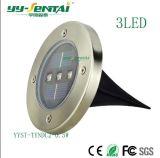 옥외 점화를 위한 LED 에너지 빛 태양 LED 지하 램프