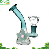 Blumen-schwere Stärken-rauchendes Wasser-Glasrohr