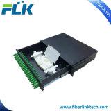 12/24 core ODF giratorio de fibra óptica Patch Panel