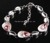 Aleación de zinc de la moda de Piedra de Cristal Rosa Pulsera Lágrima