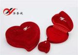 3 حجوم من رومانسيّ قلب شكل أحمر مخمل [جولري بوإكس]