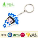 女性のためのロゴのかなり装飾的な習慣PVCゴム製豪華な動物の蝶Keychain