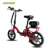 Mini Floding bicicleta eléctrica con certificado CE rojo