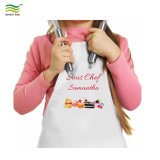 개인화한 굽는 색칠 그림은 아이 성인 앞치마를 만든다