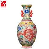 Antiguo patrón tradicional de dragón chino pintado a mano Decorativo florero de cerámica de lujo