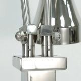 Duas luzes Heatlamp redonda inferior com lâmpada de aquecimento em mármore preto