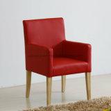 Poltrona em couro Ruby Red Chair para jantar (SP-HC620)