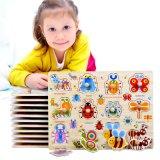 Les enfants en bois jouet éducatif Cartoon Animal couleurs géométriques Puzzle