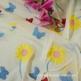 La moda de tela de encaje bordado aplique