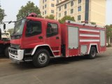 日本ブランドの倍の小屋のIsuzuの普通消防車、販売のための消火活動のトラック
