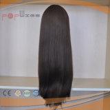 Peluca superior de seda de gama alta 100% de Wefted de la tecnología del pelo de la Virgen del acoplamiento superior de seda de Elsatic (PPG-l-0879)