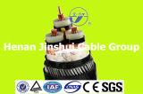 3 câble d'alimentation isolé blindé de tension moyenne de cuivre de conducteur de faisceau par XLPE