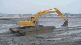 excavador anfibio 33t con el compartimiento 0.9m3