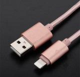 1m 2.1A Câble USB pour chargeur en peau nylon en aluminium