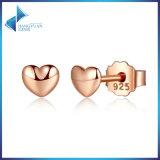 고전 925 은 심혼 로즈 금에 의하여 도금되는 정밀한 보석 여성 작은 장식 못 귀걸이