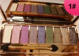 9 Colores Shimmer & Glitter No-Blooming Paleta de sombra de ojos Pearling