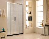 Écran de douche normal australien de bâti de portes coulissantes de la salle de bains trois