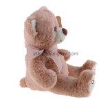 Urso bonito desgastando do animal enchido da curva do luxuoso cor-de-rosa do urso da peluche