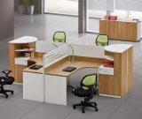 Estação de trabalho de madeira da equipe de funcionários do caixeiro do conjunto da divisória do escritório do MDF (HX- NCD143)