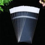 Le matériau transparent de BOPP vêtx le sac en plastique d'en-tête avec auto-adhésif