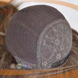 Parrucca capa piena delle donne di stile di strato di tecnologia superiore di seta di colore del Brown grande (PPG-l-0863)