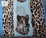 2017発の最も新しいViscose Scarf Leopard Painted方法女性ショールの工場