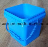 rectángulo plástico del cuadrado de la categoría alimenticia 5L con la maneta