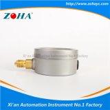 Manomètre de résistance aux chocs avec la connexion d'acier inoxydable et de laiton