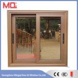 Fenêtre coulissante en aluminium avec écran en acier inoxydable