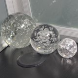 sfera di cristallo incisa laser 3D e sfera di cristallo della decorazione domestica