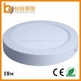 Lampe extérieure de plafond de panneau du rond DEL de l'éclairage 18W de >90lm/W CRI>85 Supermarke