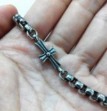 Retro Armband van de Juwelen van de Ketting van de Parel van de Charme van de Juwelen van het Roestvrij staal Dwars