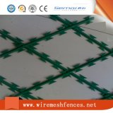 Clôtures de sécurité sur le fil barbelé de rasoir en acier inoxydable