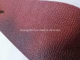 Nuovo cuoio di Microfiber di colore del vino di modo per il sofà