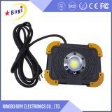 Luz de inundación recargable de alta presión portable del LED al aire libre